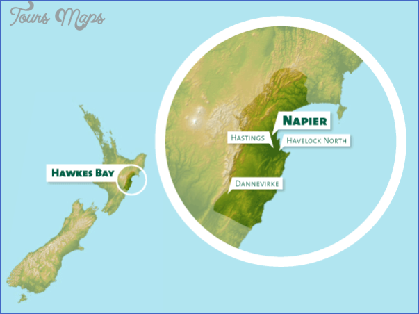 hb map Napier New Zealand Map