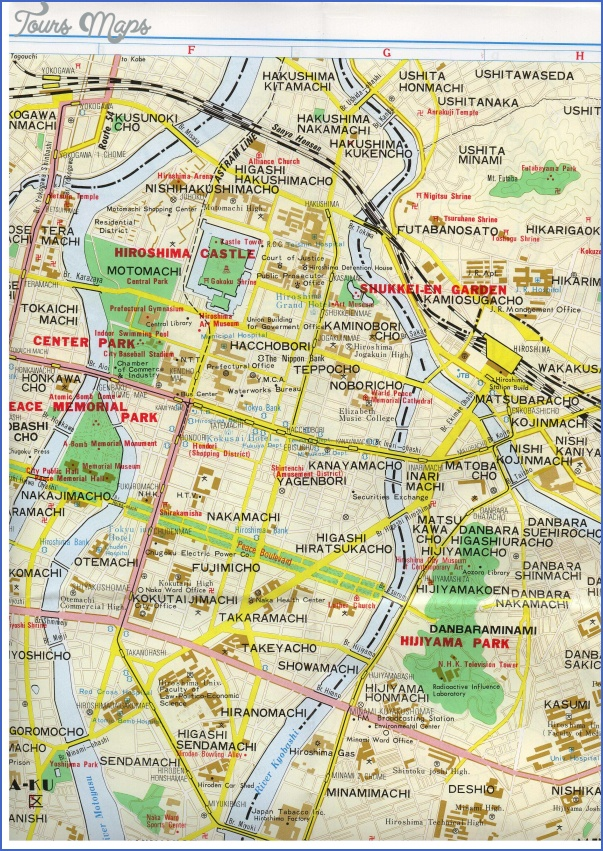 hiroshima map 0 New Zealand City Map