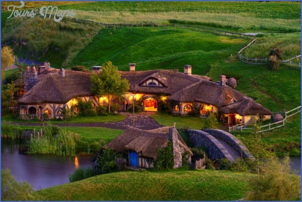 hobbiton movie set farm medium Lord Of The Rings New Zealand Map