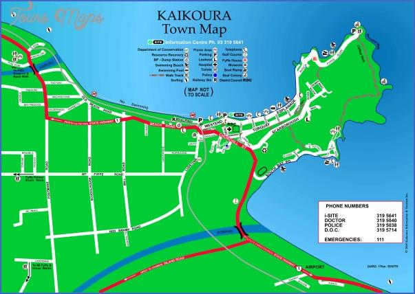 kaikoura town map Kaikoura New Zealand Map