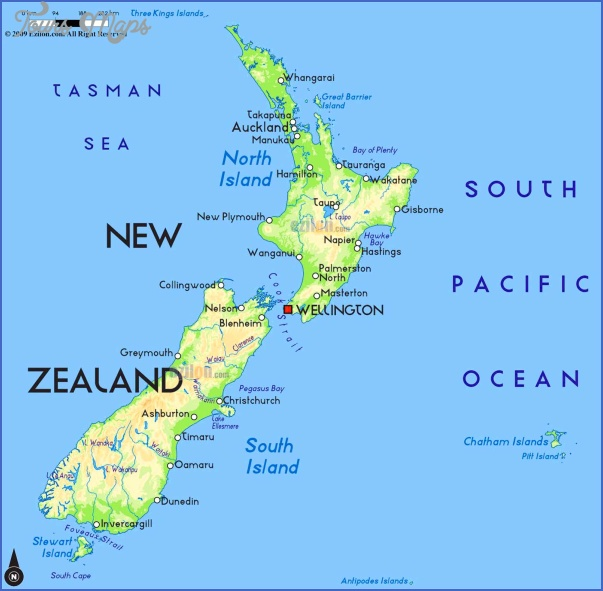 New Zealand On A Map Of The World ToursMapscom