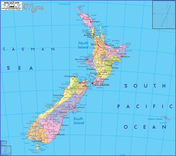 large detailed administrative map of new zealand with roads cities and airports for free82b7 Map New Zealand