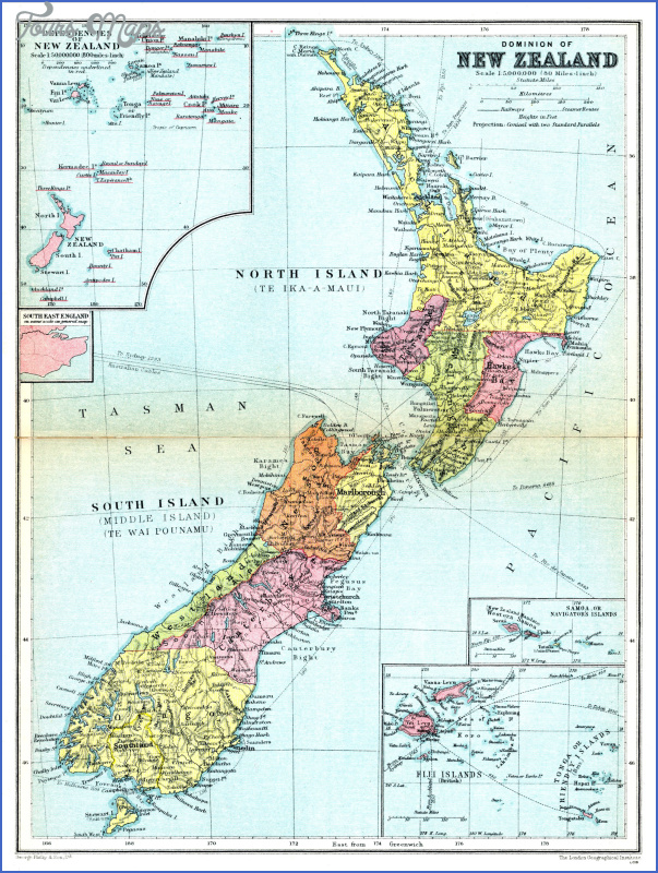 large detailed old administrative map of new zealand 1936 Detailed Map Of New Zealand