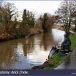 man fishing on the bude canal on a wet winter day cornwall uk dpcnp7 150x150 Winter Canal Fishing