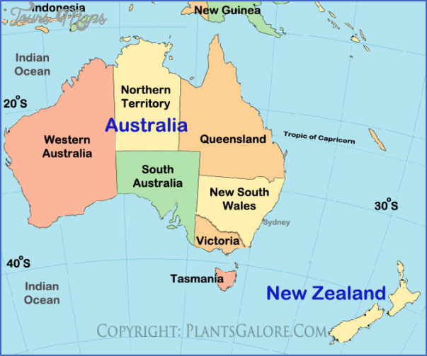Map New Zealand And Australia ToursMapscom - Map of australia and new zeland