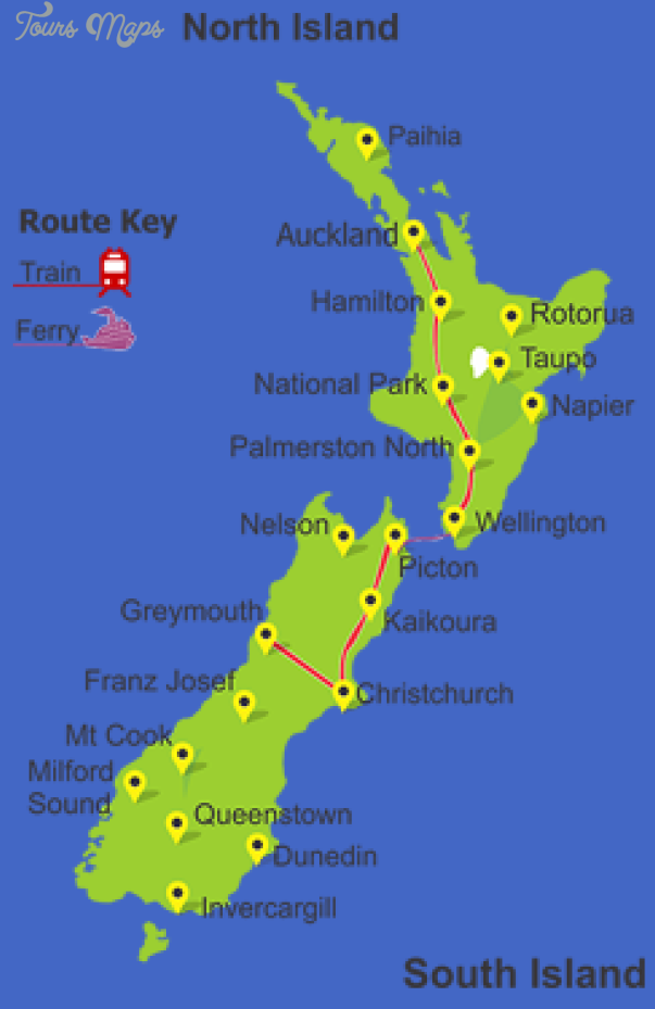 map img New Zealand Railway Map