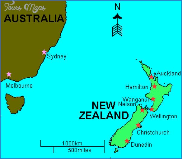 New Zealand Location On Map ToursMapscom