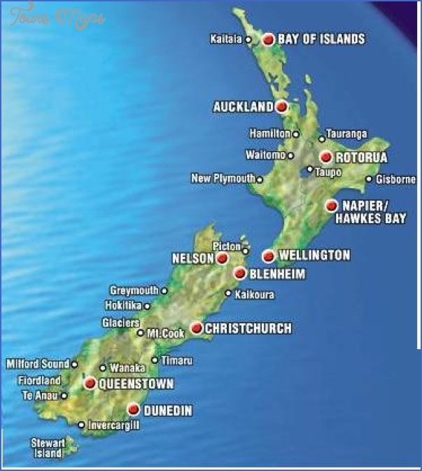map new zealand 2 A Map Of New Zealand