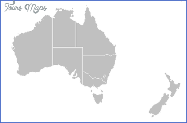 Map New Zealand And Australia - ToursMaps.com ®