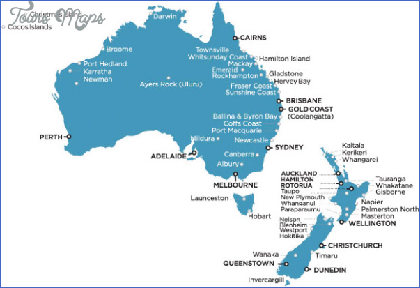Map Of Australia Nz.Maps Of Australia And New Zealand Toursmaps Com