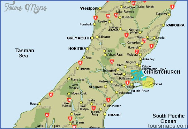 map of new zealand south island 0 Map Of New Zealand South Island