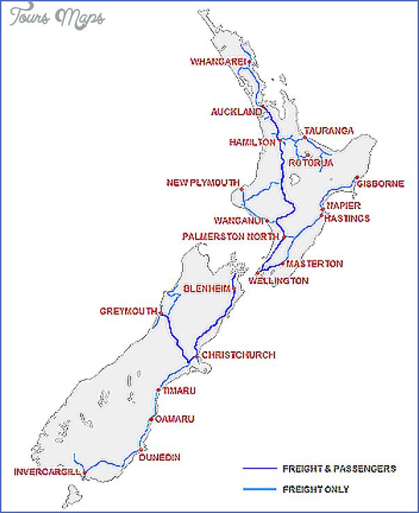 map of railways New Zealand Railway Map
