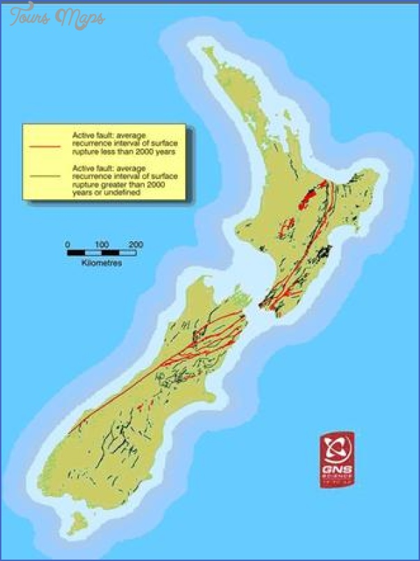 map large New Zealand Earthquake Map