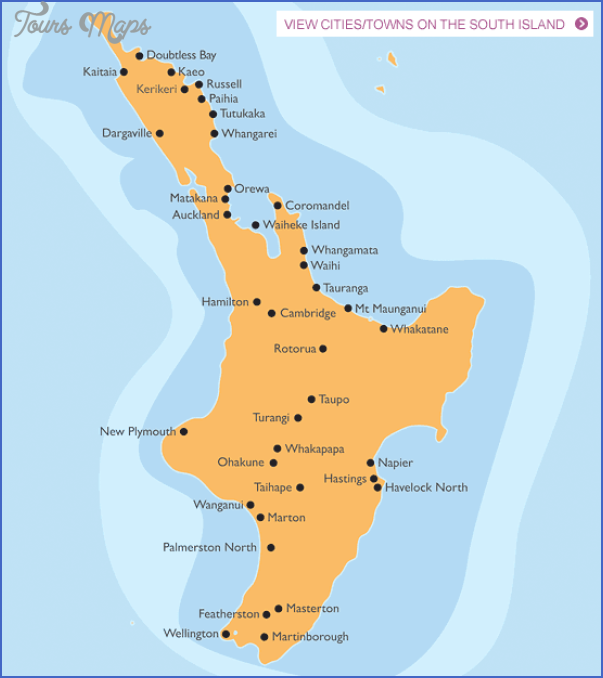 map newzealandnorthisland Map North Island New Zealand