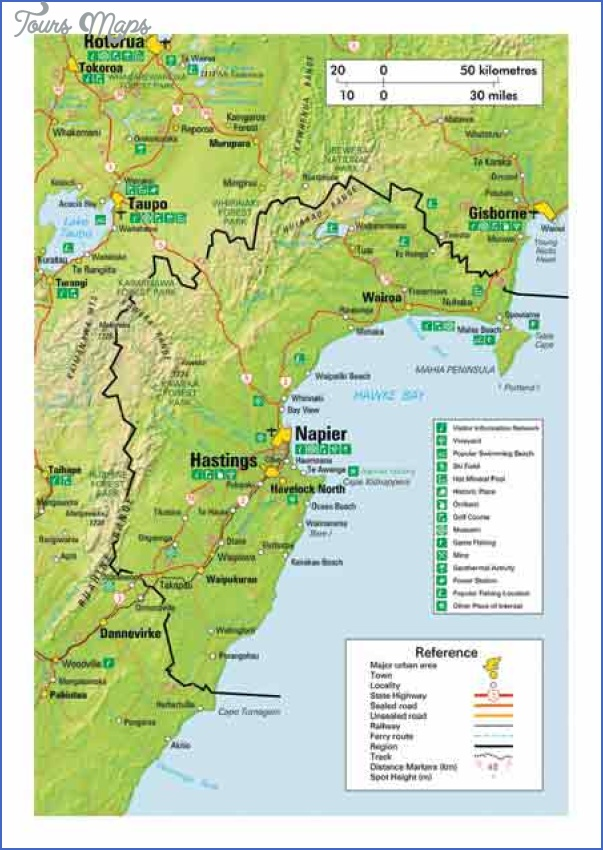 map of hawkes bay Napier New Zealand Map