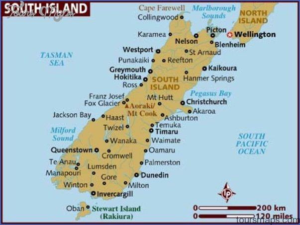 map of south island Oamaru New Zealand Map