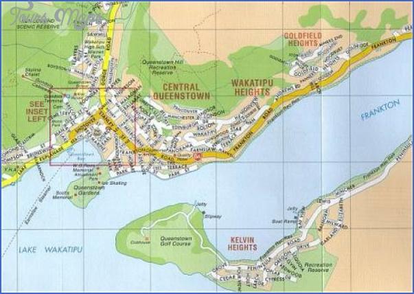 mapofnewzealand com queenstown new zealand Queenstown New Zealand Map