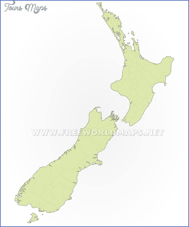 new zealand blank map Blank Map Of New Zealand