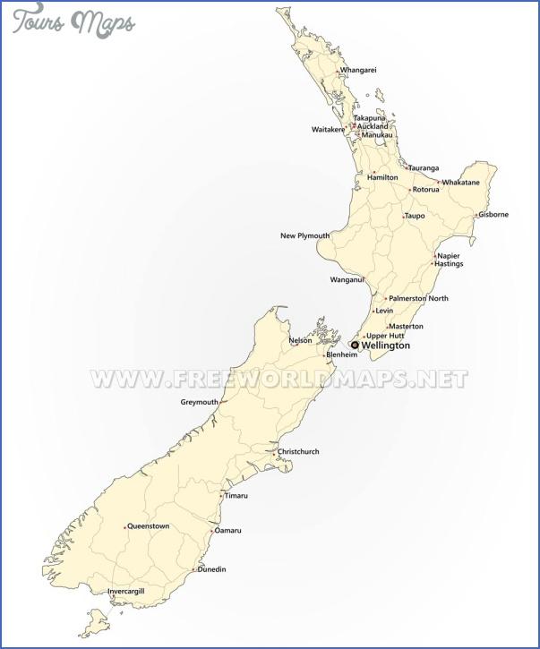 new zealand cities map New Zealand Cities Map