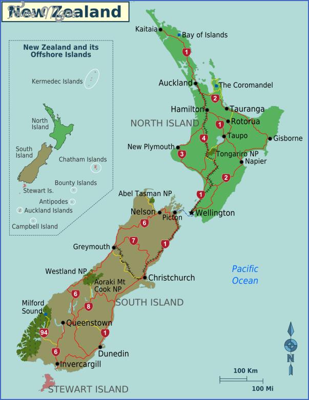 new zealand cities map 0 New Zealand Cities Map