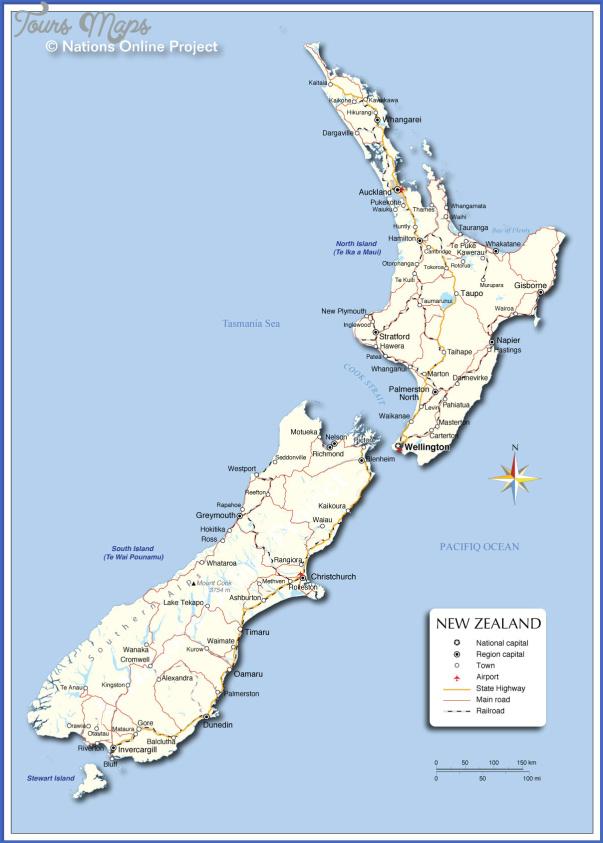 new zealand cities map 1 New Zealand Cities Map