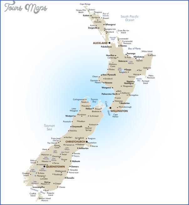 new zealand large New Zealand City Map