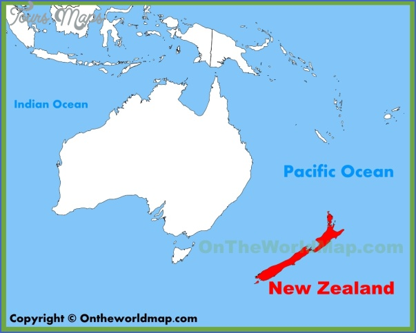 Where Is New Zealand On The Map New Zealand On Map   ToursMaps.®