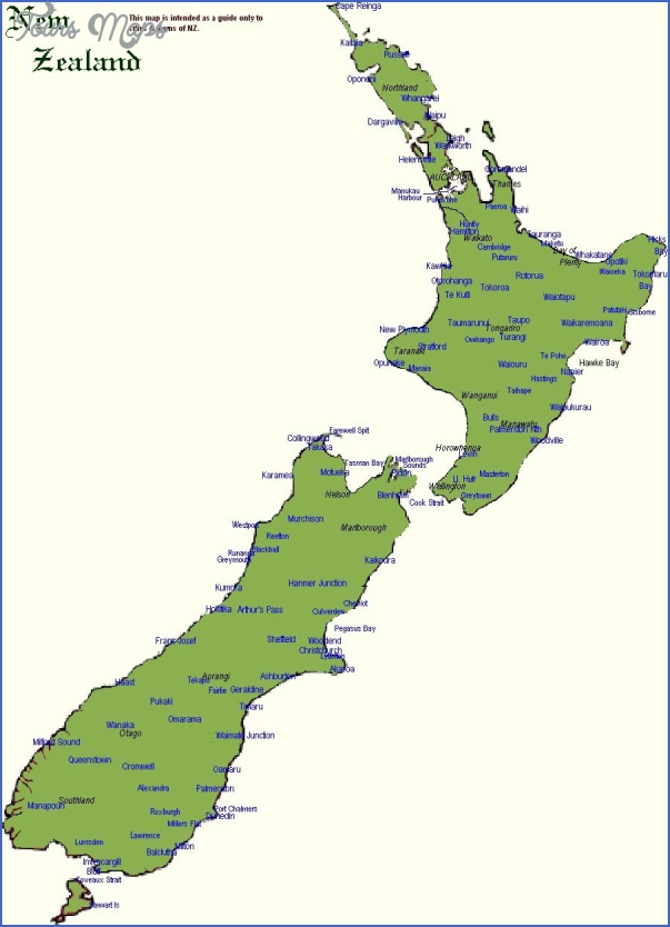 new zealand map 2 New Zealand Map Printable