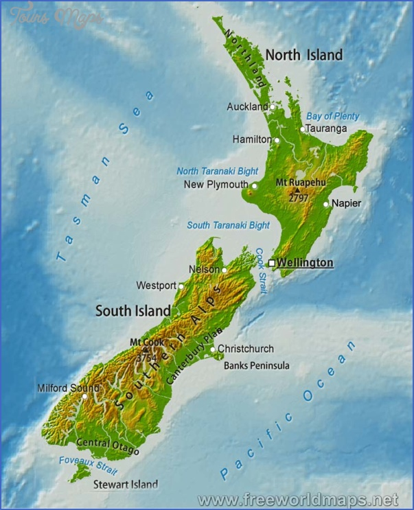 new zealand map big Australia And New Zealand Physical Map