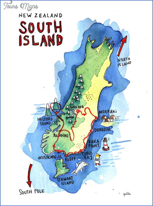 new zealand map w640 Map Of South Island Of New Zealand