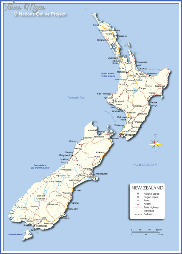 new zealand map Map OF New Zealand