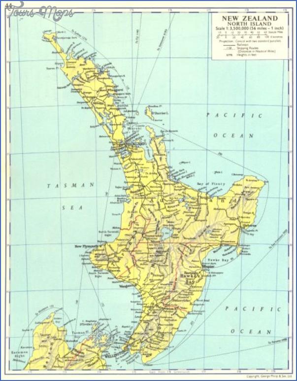 new zealand new zealand north island 1962 map 119380 p New Zealand North Island Map