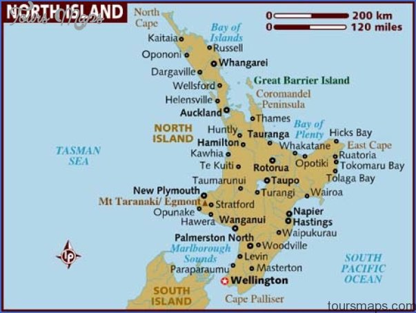 Map New Zealand South Island.New Zealand North Island Map Toursmaps Com