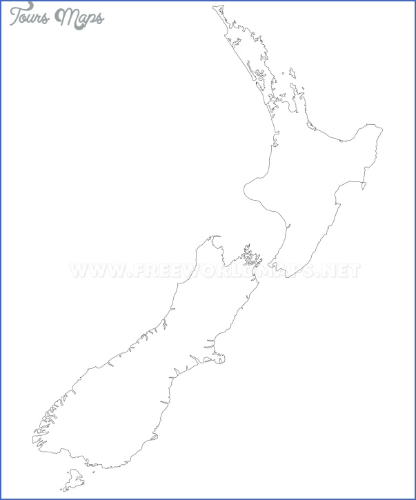 new zealand outline map Blank Map Of New Zealand