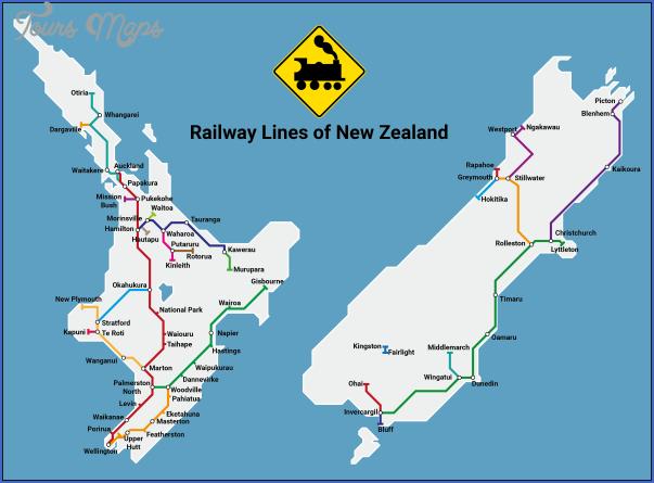 new zealand railway map 1 New Zealand Railway Map
