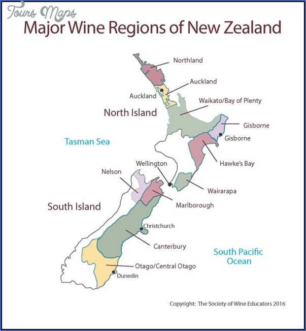 new zealand swe map 2016 New Zealand Wine Map