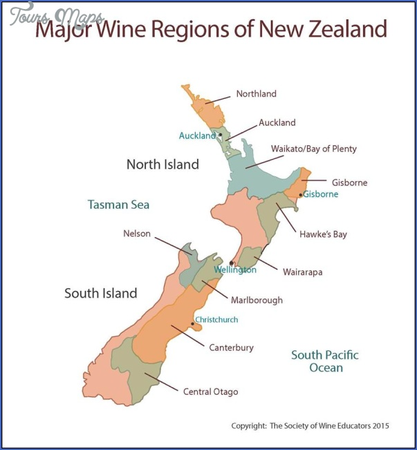 new zealand wine map 1 New Zealand Wine Map