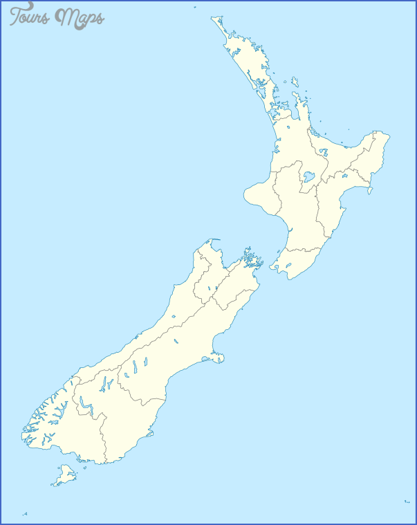 new zealand Physical Map Of New Zealand
