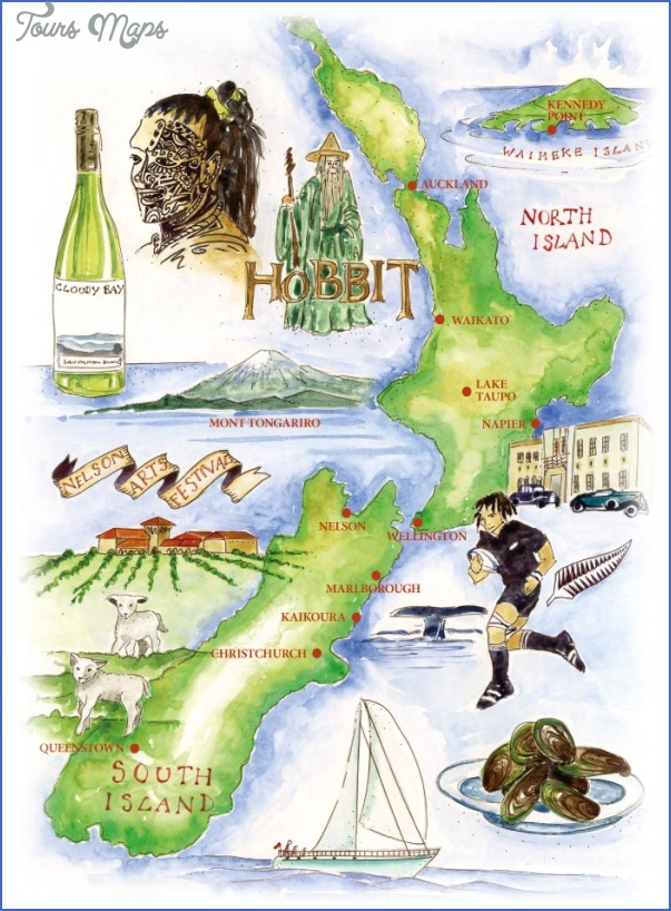new zealand map 1 New Zealand Wine Map