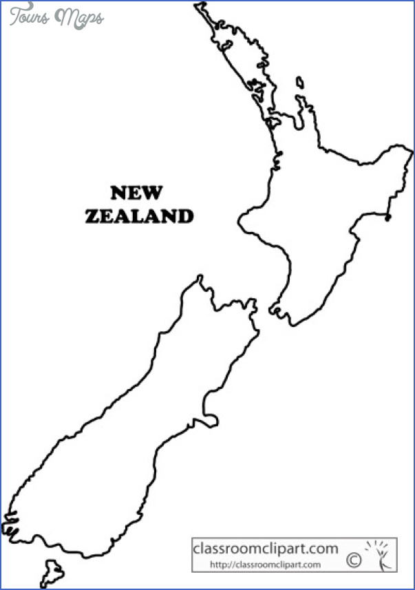 new zealand outline map ga2 New Zealand Outline Map