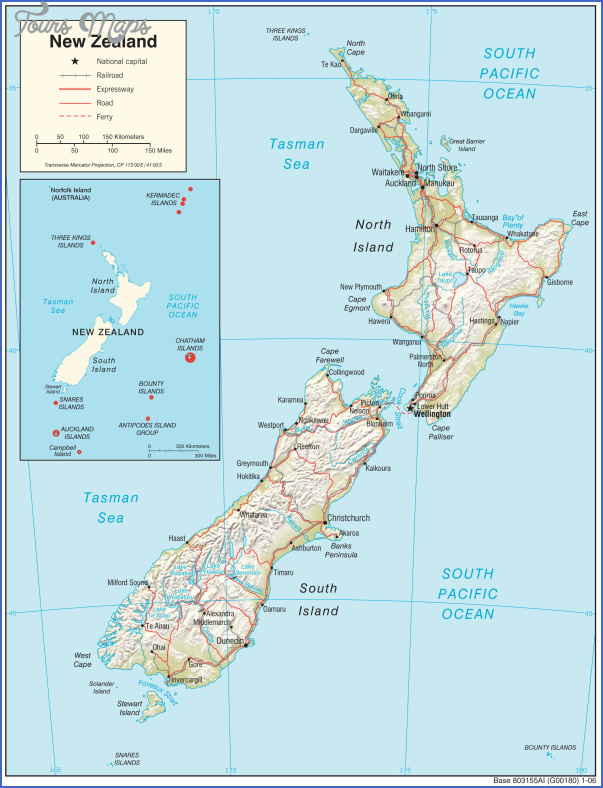 new zealand physio 2006 New Zealand In Map