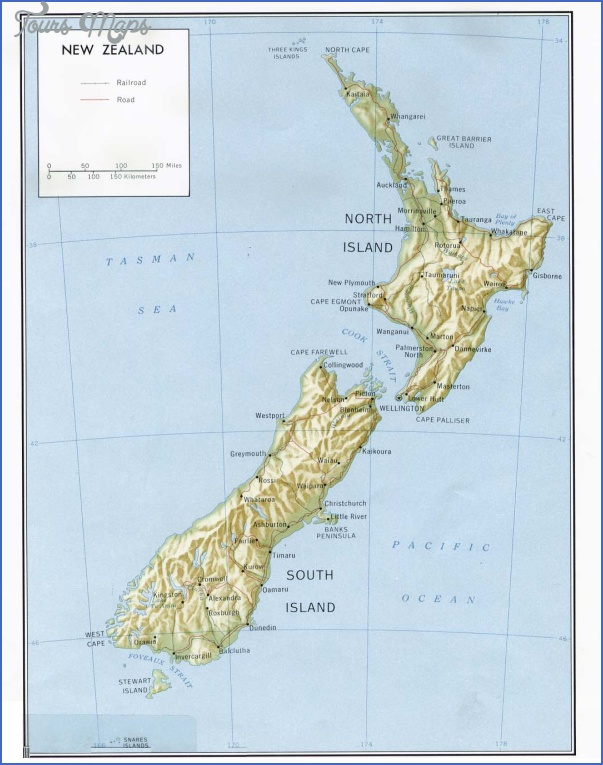 new zealand rel81 Map OF New Zealand
