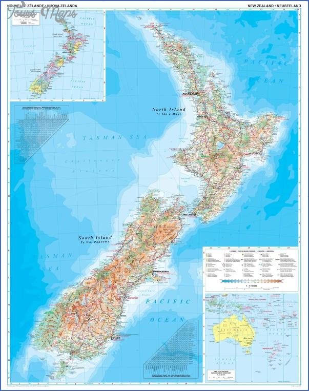 new zealandgeomap Physical Map Of New Zealand