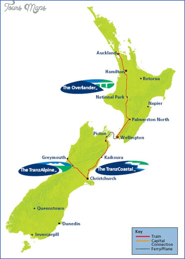 newz tranz map New Zealand Railways Map