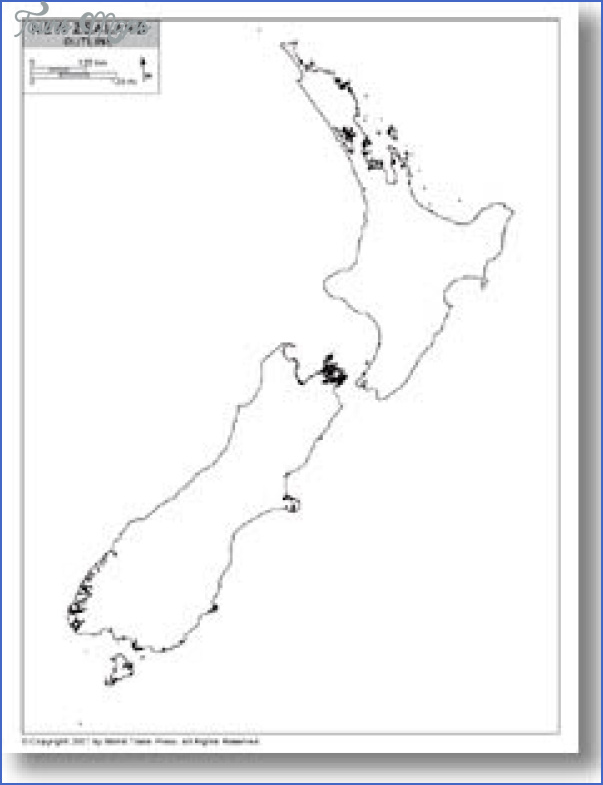 newze out New Zealand Outline Map