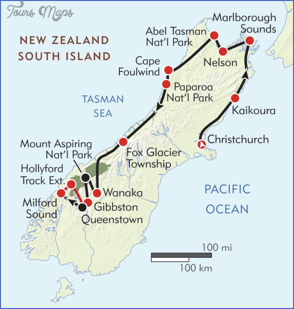 newzeal map Map Of South New Zealand
