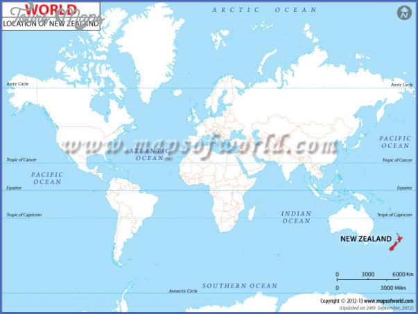 newzealand location map New Zealand Location On Map