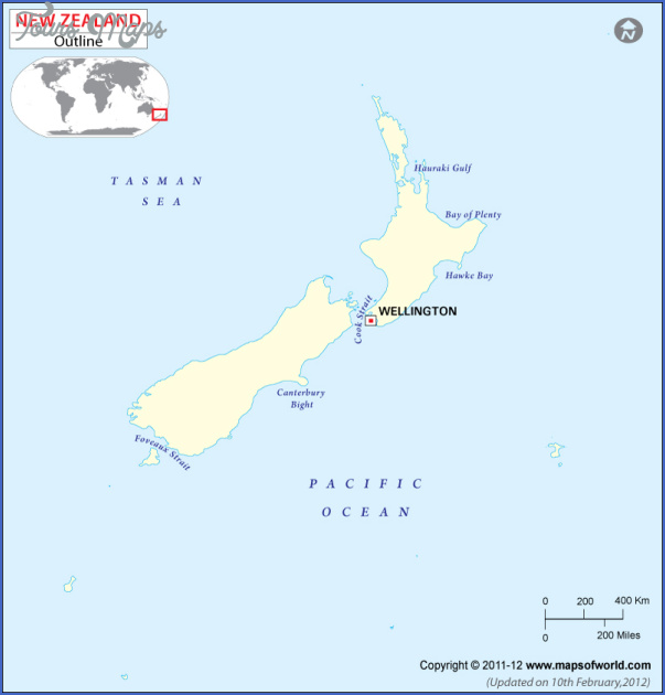 newzealand outline map New Zealand Outline Map