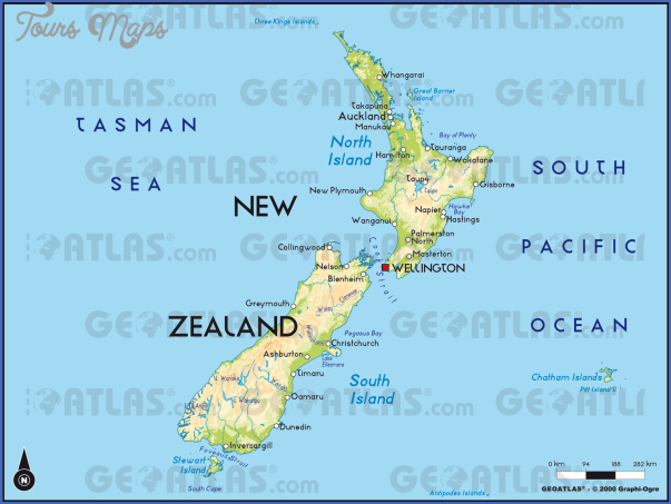 Political Map Of New Zealand.New Zealand Political Map Toursmaps Com
