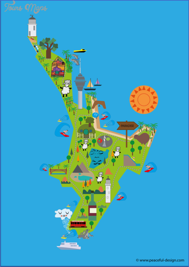 north island Map North Island New Zealand
